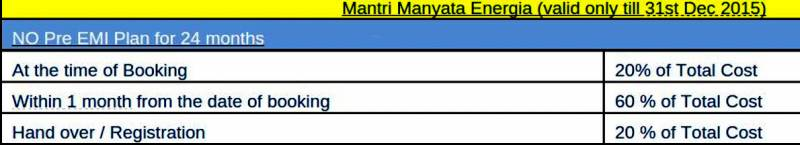 Images for Payment Plan of Mantri Manyata Energia