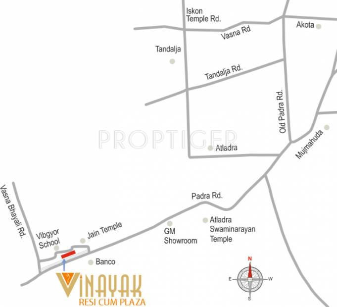Images for Location Plan of Vinayak Resi Cum Plaza