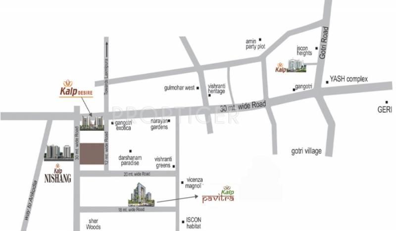 nishang Images for Location Plan of Kalp Nishang