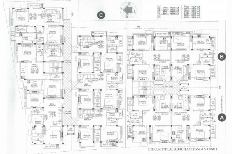 Images for Cluster Plan of MR Vijaya Lakshmi Apartments