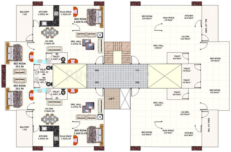 Images for Cluster Plan of Dwarkadheesh Dwarka Heights