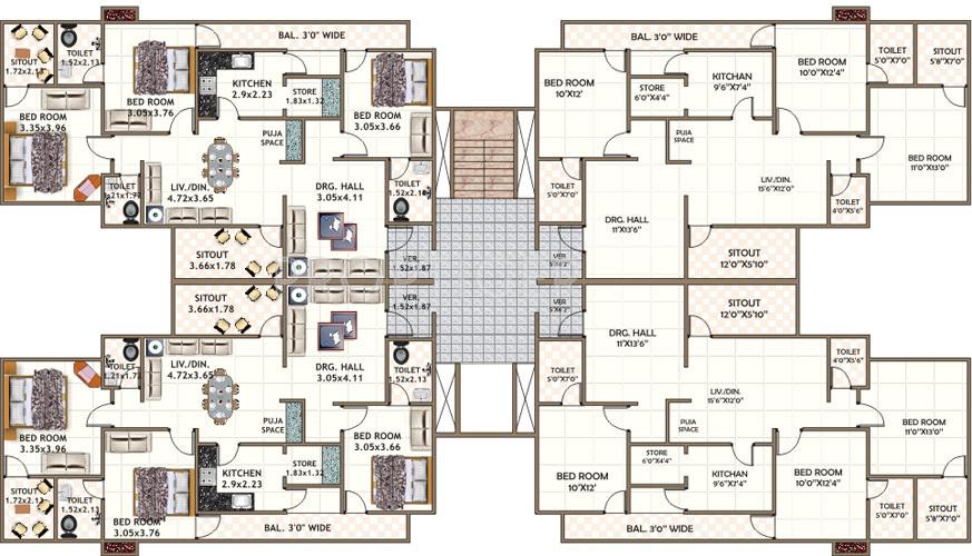 Haveli house plans
