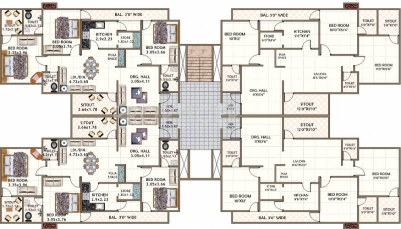 Images for Cluster Plan of Dwarkadheesh Dwarka Heights