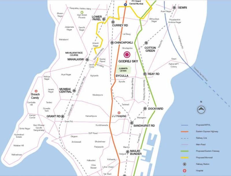 Images for Location Plan of R R Builders Godrej Sky