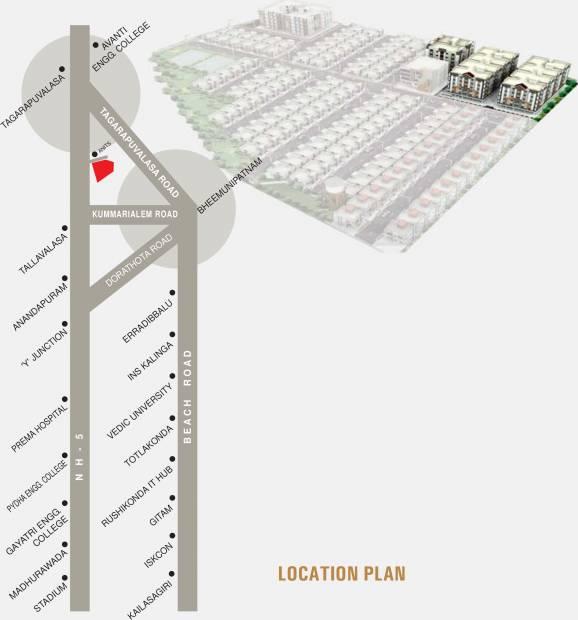 Images for Location Plan of Sukhibhava Brindavanam Apartments