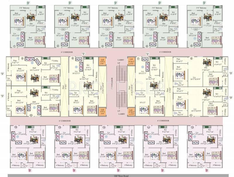 Images for Cluster Plan of KR Geethanjali Elite