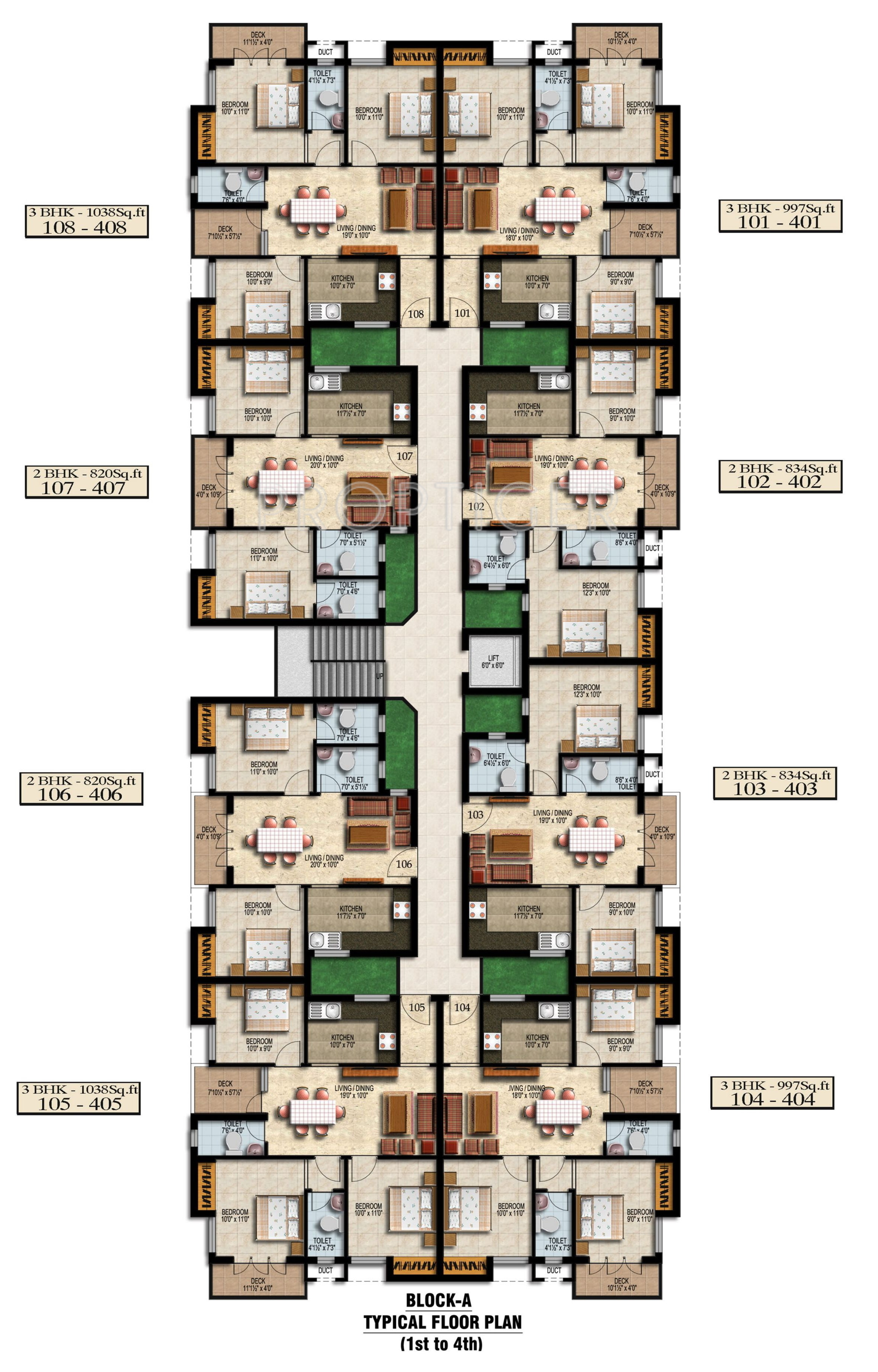820 sq ft 2 bhk 2t apartment for sale in sebco property for Apartment block floor plans