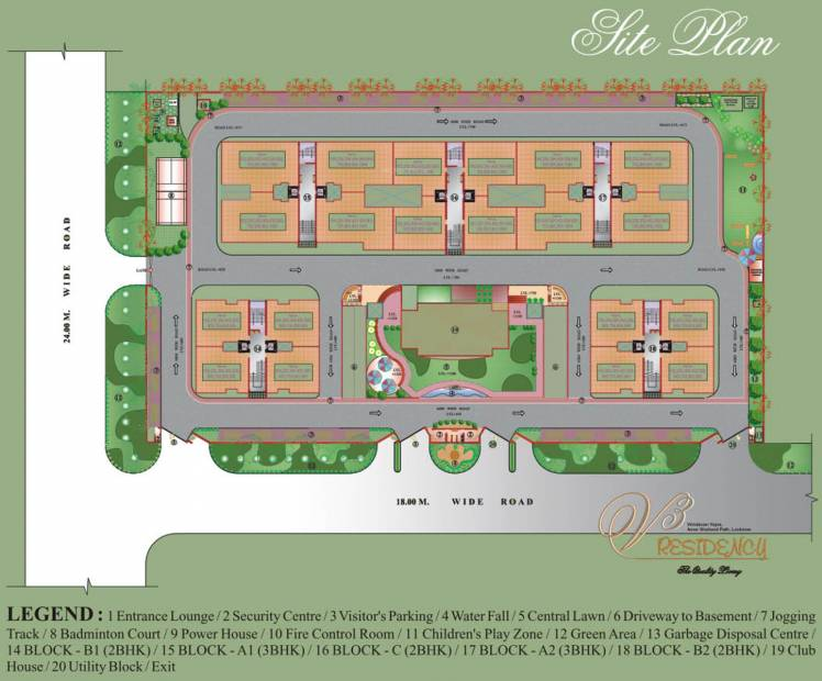 Images for Site Plan of Amazing V3 Residency