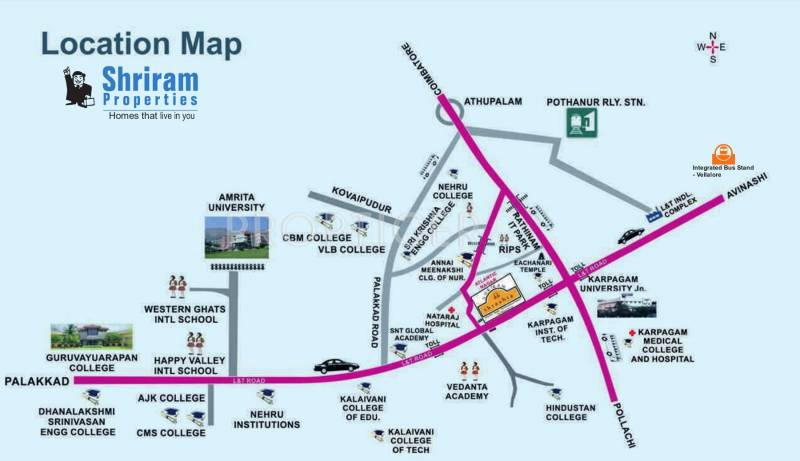 Images for Location Plan of Shriram Shreshta Apartments