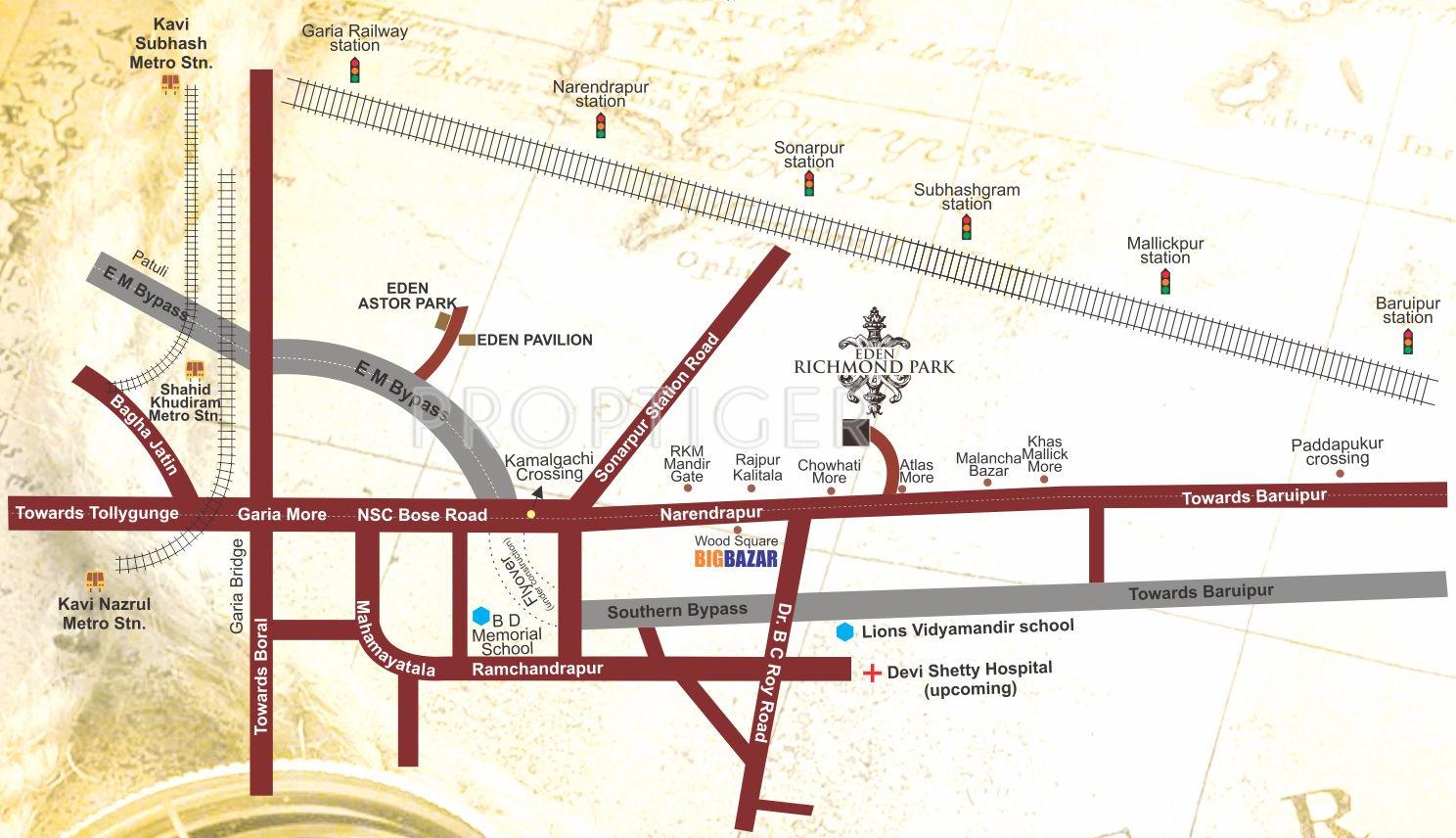 Eden Richmond Park in Sonarpur Kolkata Price Location Map Floor