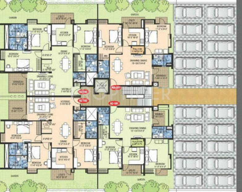 Cluster Plan Image 3 Of Ashadeep Group Gulmohar Walkup Apartment