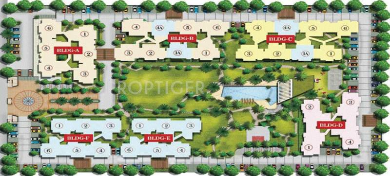 Images for Site Plan of Aarcity Moon Towers