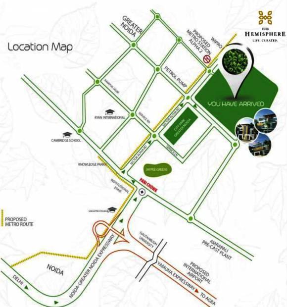 golf-villas Images for Location Plan of The Hemisphere Golf Villas