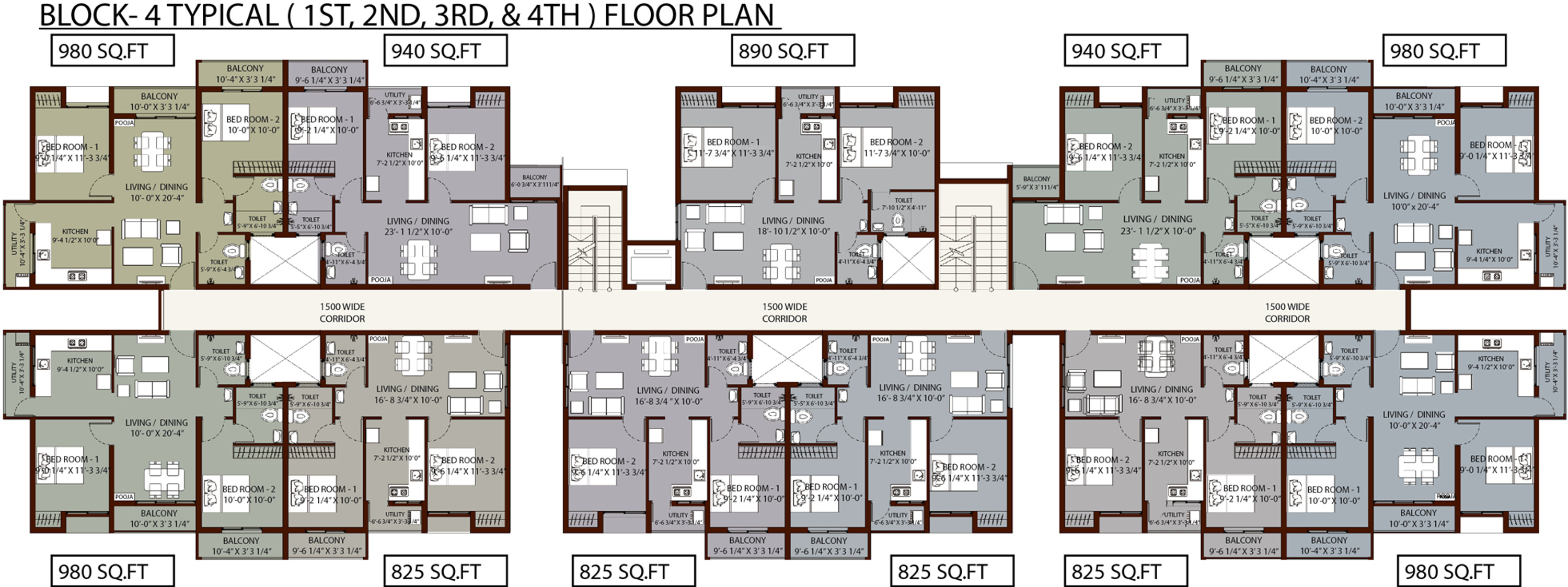 770 sq ft 1 bhk 2t apartment for sale in arun excello four for 770 plan