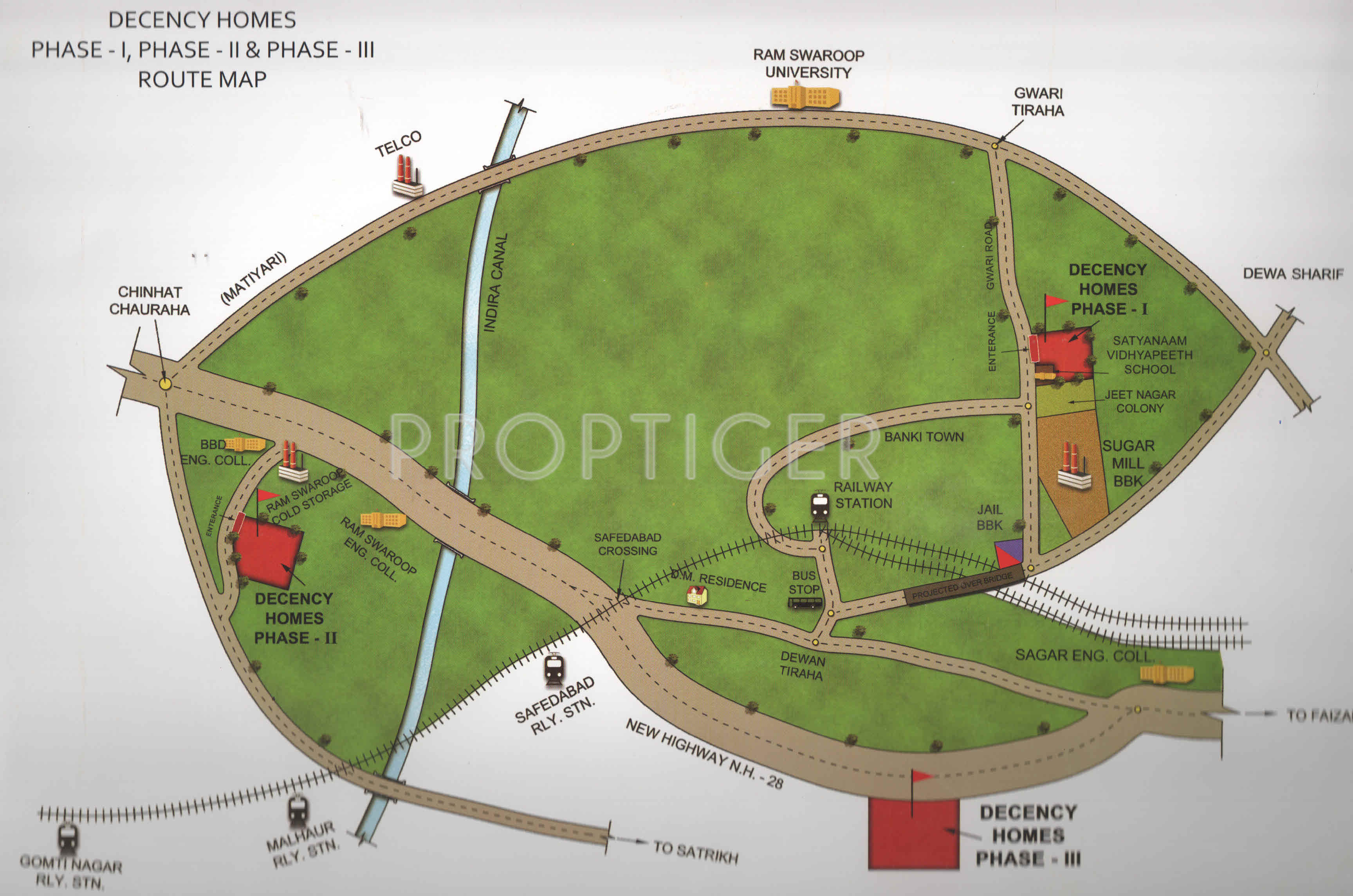 1000 sq ft Plot for Sale in Decency Homes Phase 1 Gadia Lucknow