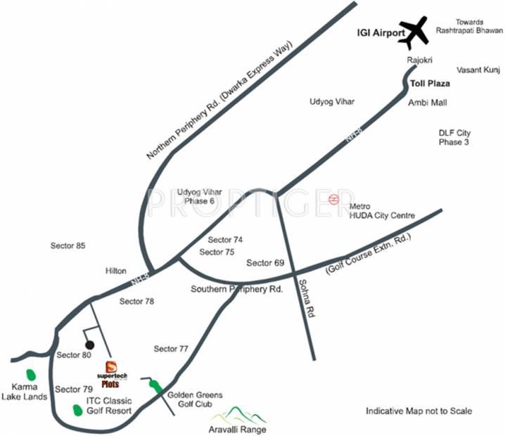 aadri Images for Location Plan of Supertech Neeladri Floors