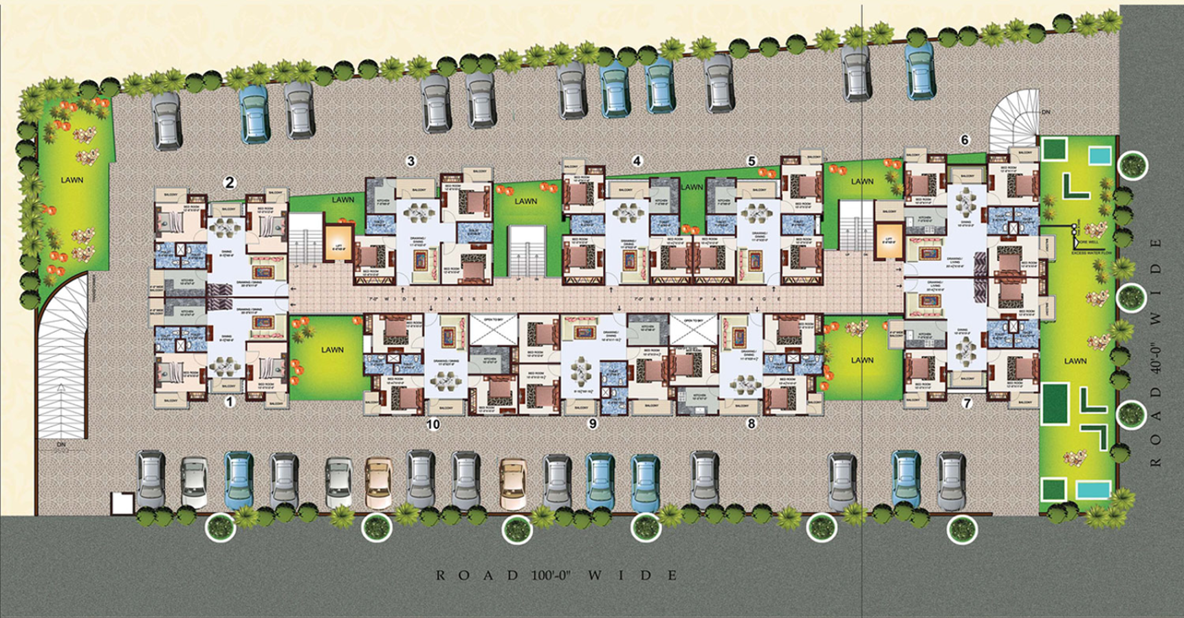 1410 sq ft 3 bhk 2t apartment for sale in amrapali group for Apartment cluster plans