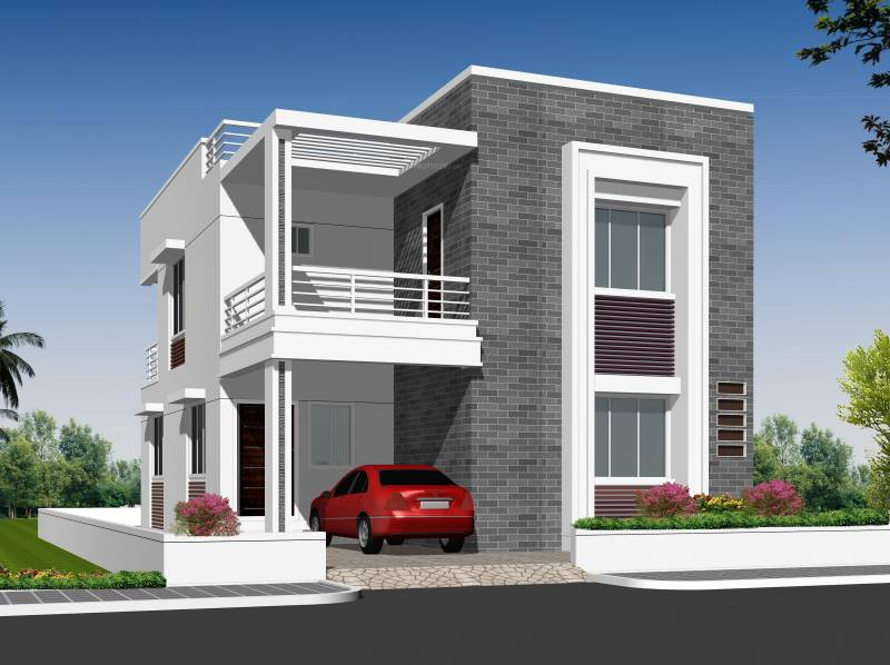 Front Elevation Designs Of Houses In Hyderabad : Main elevation image of ajasra homes akash vihar villa