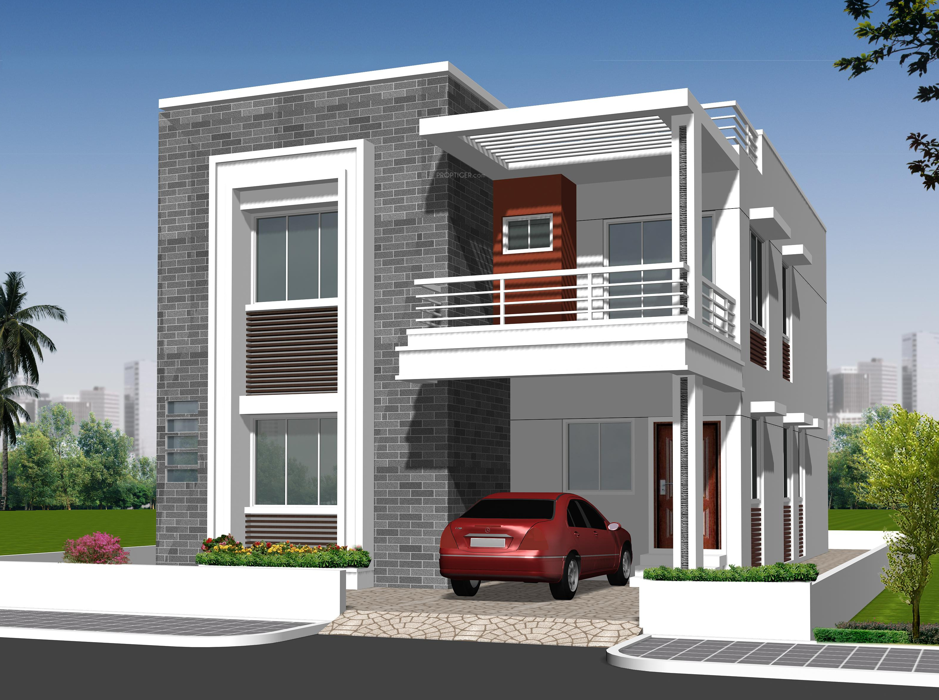 Independent house elevation designs in hyderabad home for Independent house designs in india