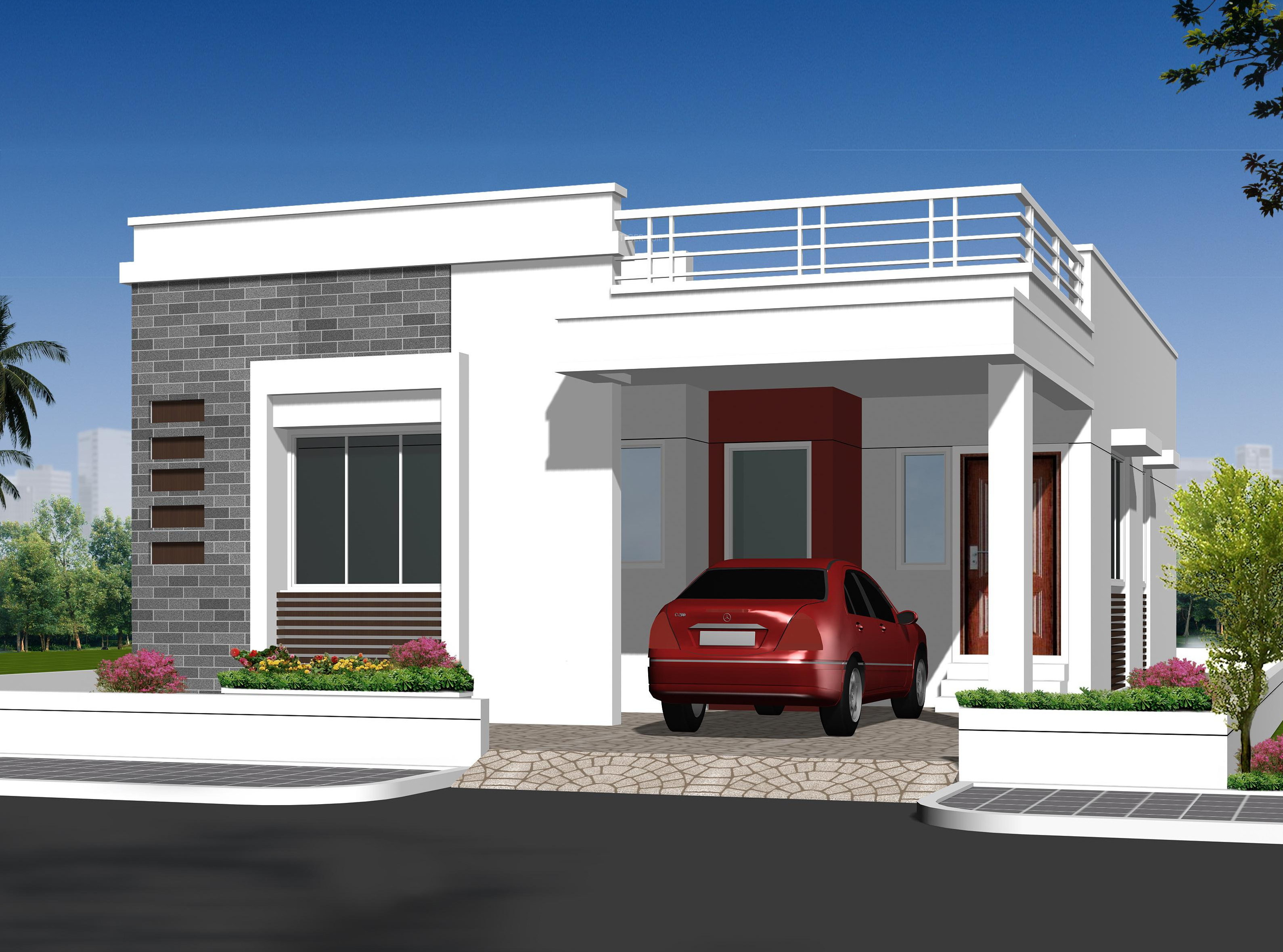 Indian House Design Front View 1342 Sq Ft 2 Bhk 2t Villa For Sale In Ajasra Homes Akash