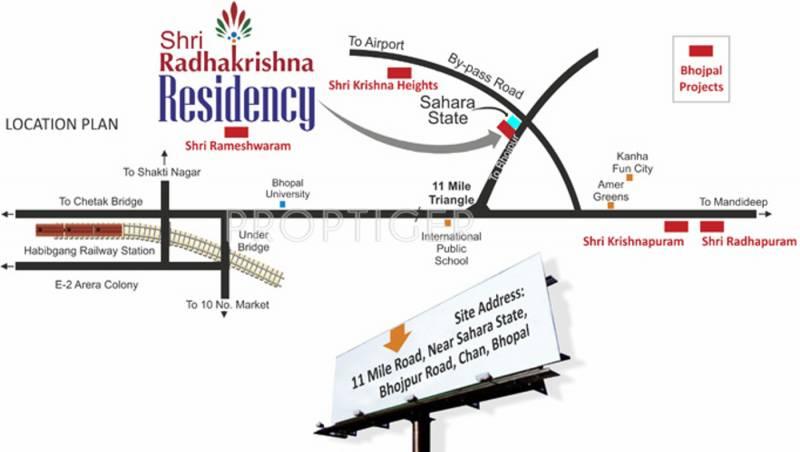 Images for Location Plan of Bhojpal Shri Radha Krishna Residency
