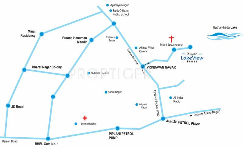 Ayodhya In India Map.Image Of Location Map Of Agrawal Builders Sagar Lakeview Home