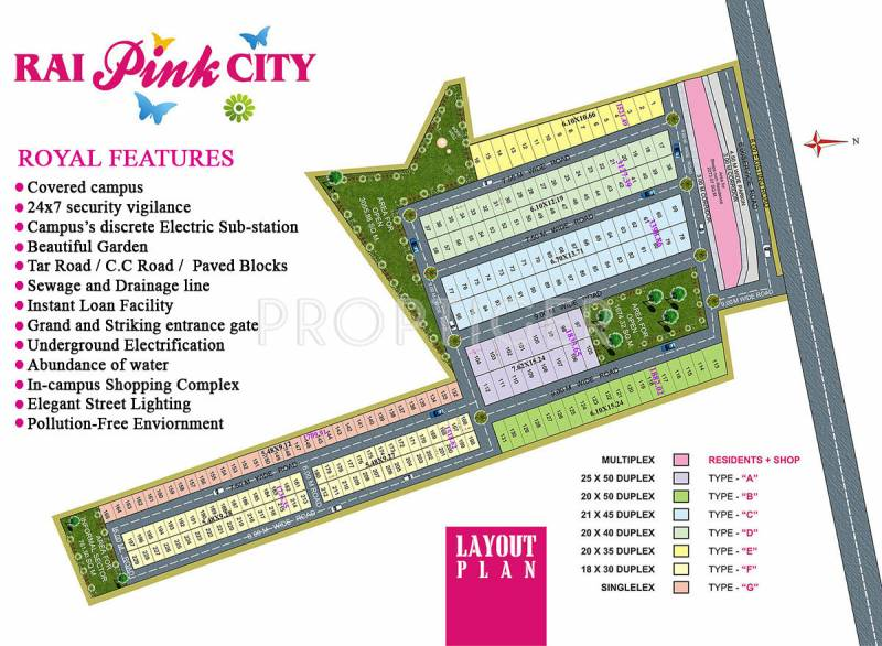 Images for Layout Plan of Rai Homes Universal Pink City