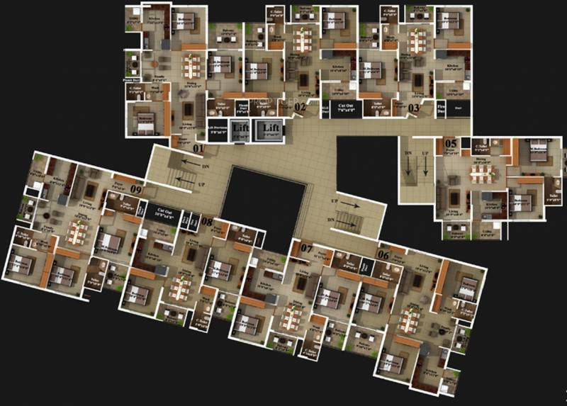 Images for Cluster Plan of Mahabaleshwara Classique Pearl