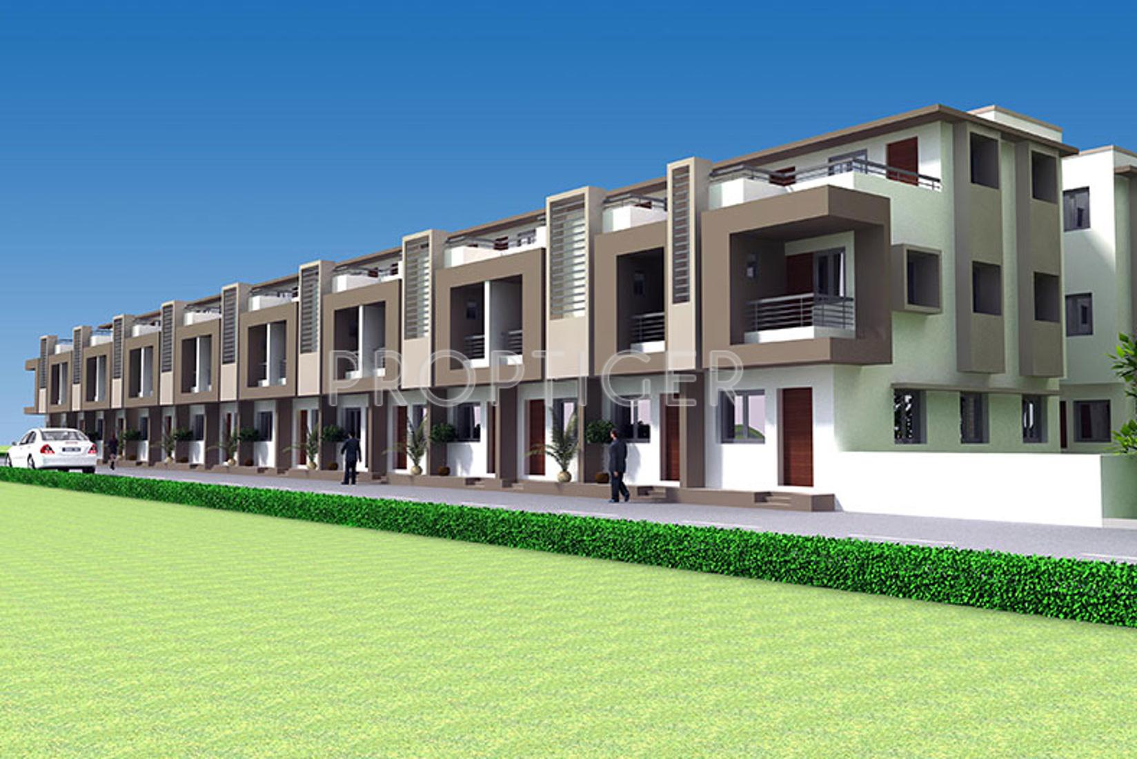 Front Elevation Of House In Ahmedabad : Main elevation image of samruddhi ashray homes unit