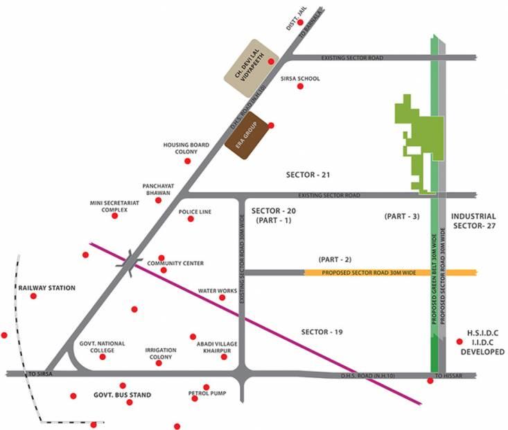 spaces-sirsa Location Plan