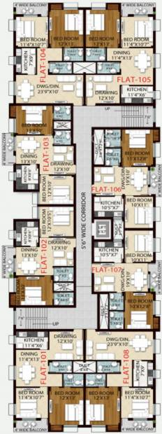 Images for Cluster Plan of Royal Retreat Sai Chandra Tirtha Heights