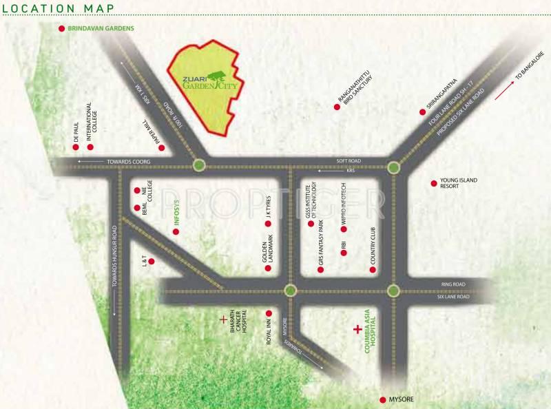 Images for Location Plan of Adventz Zuari Garden City Villa