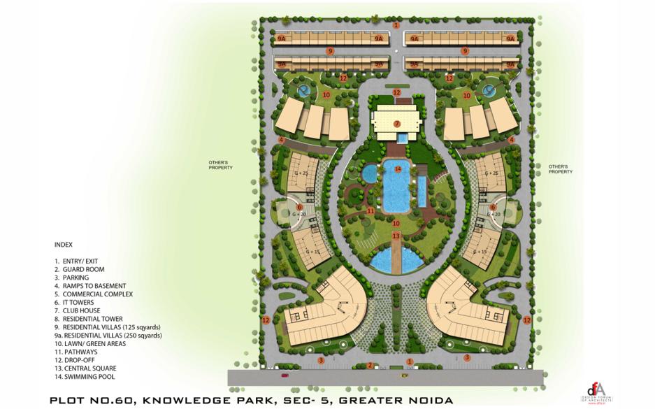 Utc code 60 apartment in knowledge park v noida price for Apartment master plans
