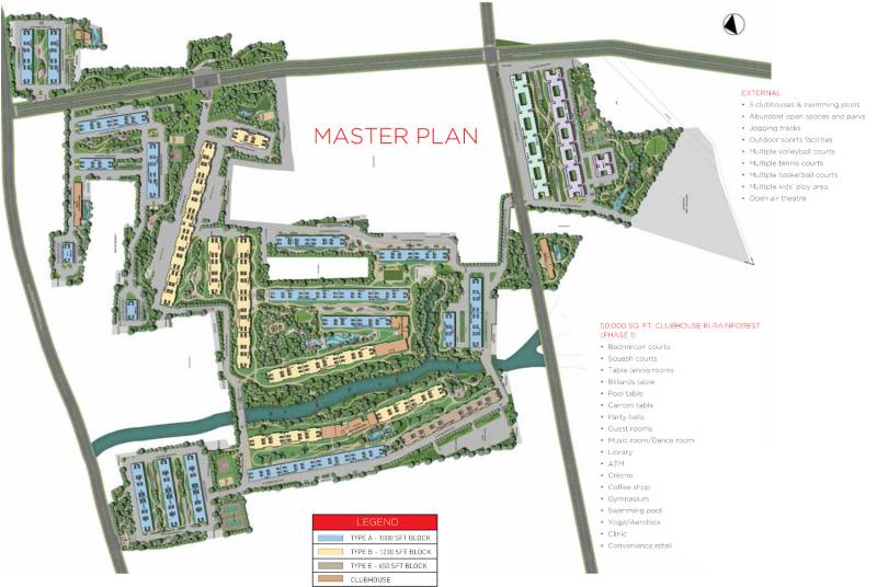 Images for Master Plan of Sobha Rain Forest at Dream Acres