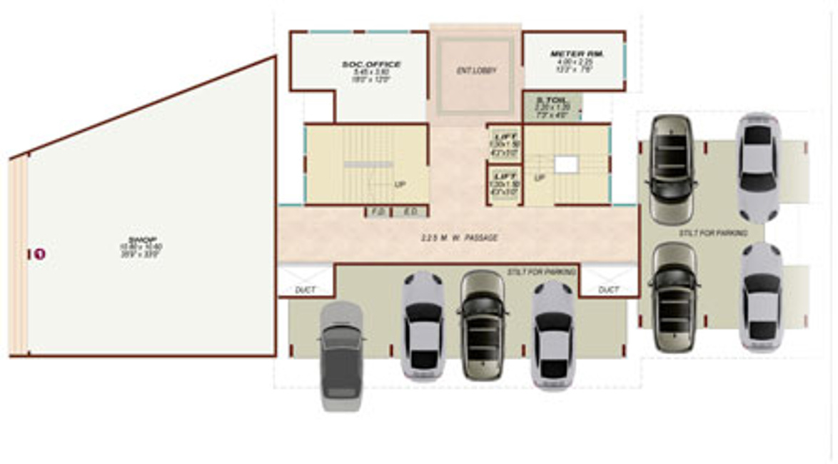 Ghar Ground Floor Elevation : Laabh pehla ghar shiva complex in bhiwandi mumbai price