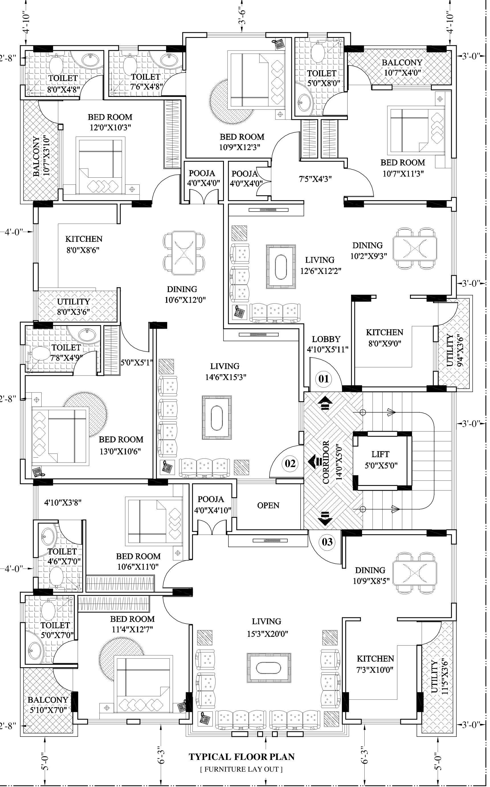 1116 sq ft 2 bhk 2t apartment for sale in grand vault group