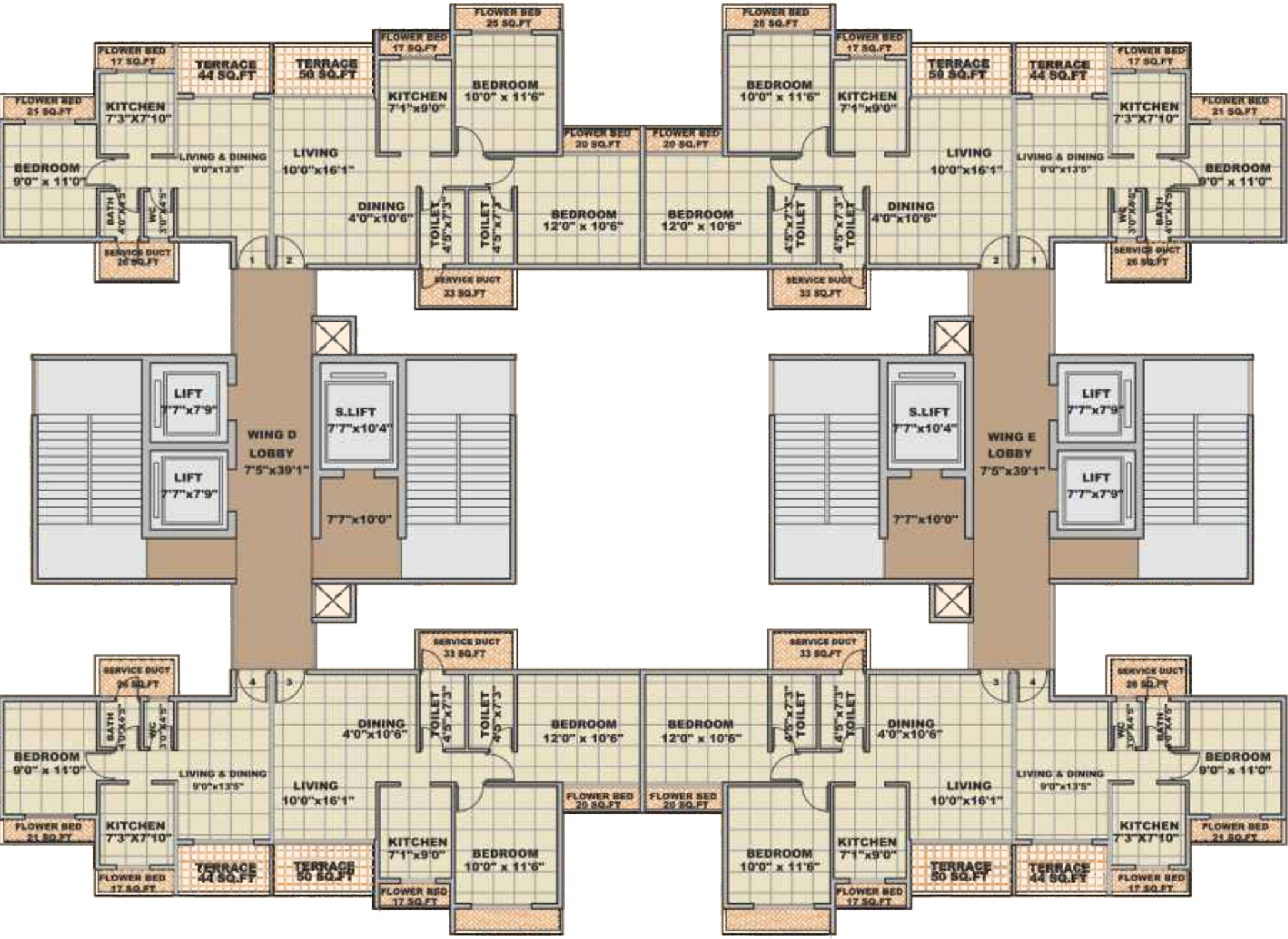 Bhairaav gold crest in ghansoli mumbai price location for Cluster house plans