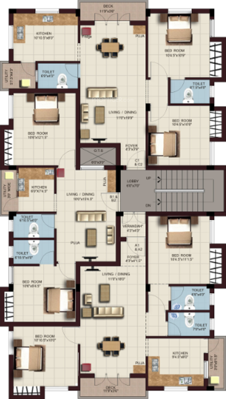 640 Sq Ft 1 Bhk 1t Apartment For Sale In Amd Constructions