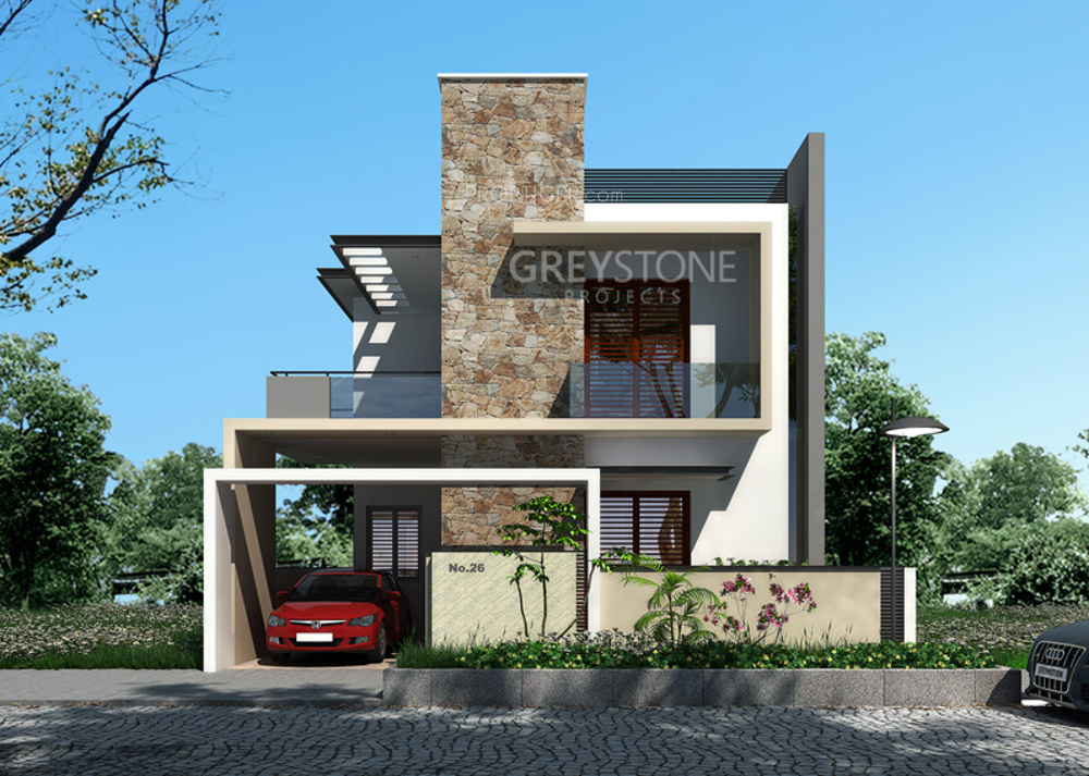 Floor Front Elevation Near Me : Main elevation image of greystone projects villas unit