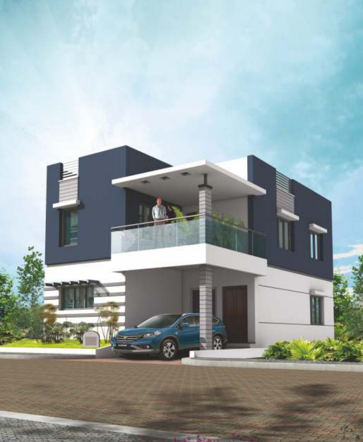 1826 sq ft 3 bhk 3t villa for sale in global green apple for Villa elevation photos