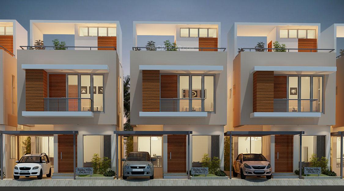 Main elevation image 2 of headway fortune residency villa for Villa elevation photos