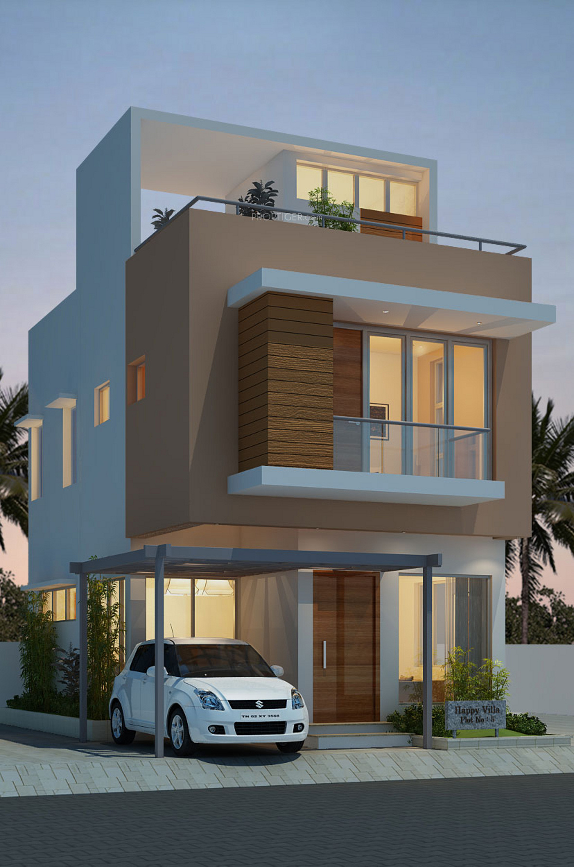 Front Elevation Villa : Headway fortune residency villa in perungalathur chennai