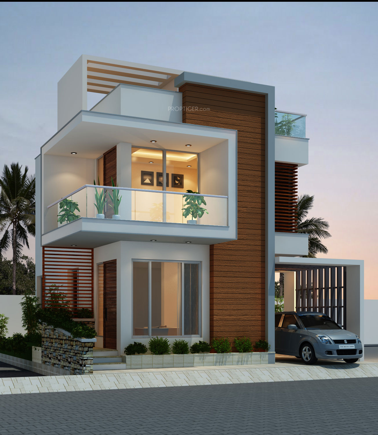 Modern Home Elevation Designs: Headway Fortune Residency Villa In Perungalathur, Chennai