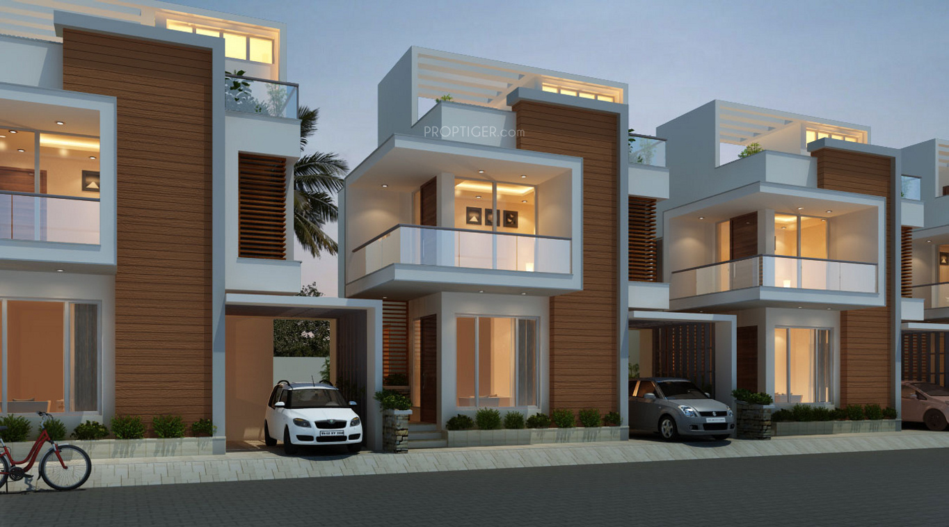 One Floor Villa Elevation : Headway fortune residency villa in perungalathur chennai