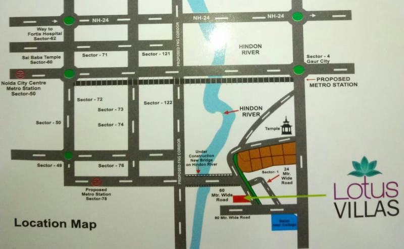 Images for Location Plan of Renowned Lotus Villas