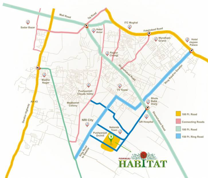 habitat Images for Location Plan of Pushpanjali Habitat