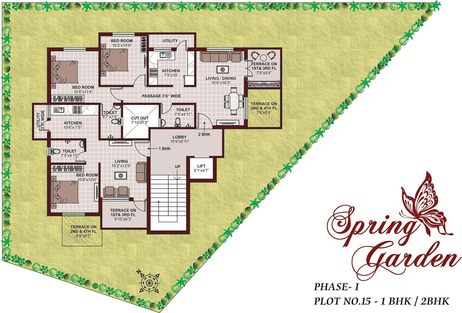 1 BHK 2T Apartment for Sale in Pushkar Real Estate Spring ...