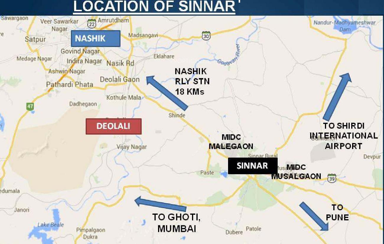 Ashoka Valley of Flowers in Sinnar Nashik Price Location Map