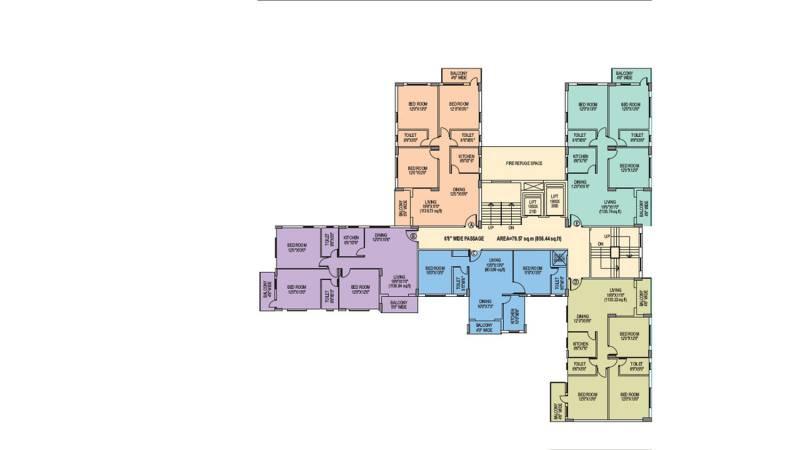 rupali Rupali Cluster Plan from 2nd to 12th Floor