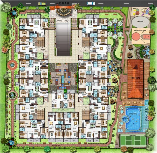 palace Images for Master Plan of Prithvi Palace